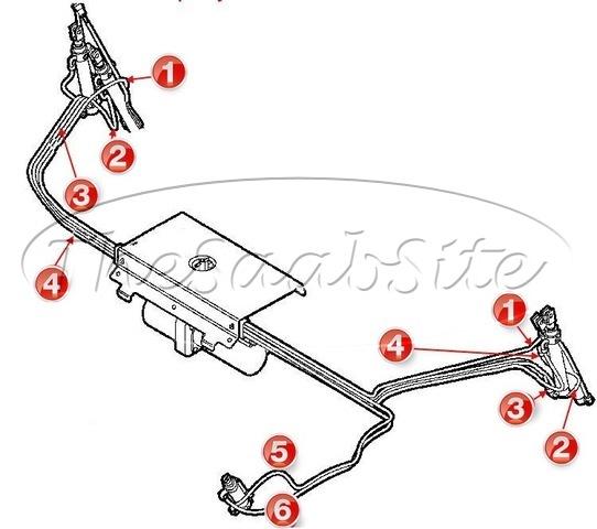 Saab Convertible Top Hydraulic Cylinder Hoses on 1999 Saab 9 3 Parts Diagram