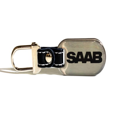 Key FOB Saab Black-OES