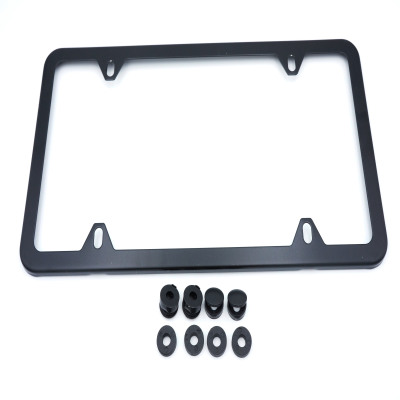 License Plate Frame - Matte Black-OES