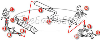 4 CYL EXHAUST PARTS (NOT 03 CONV)