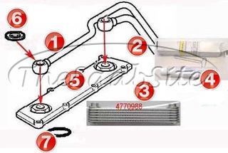 engine oil cooler & related V6